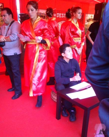 Taller de caligrafía japonesa en el Asiamanía 2012.