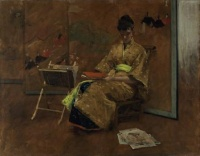 William Merritt Chase; El quimono (1895).