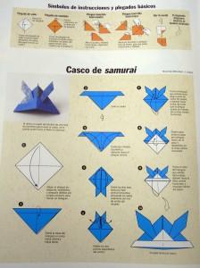 Origami: casco de samurái