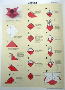 Origami: cestita