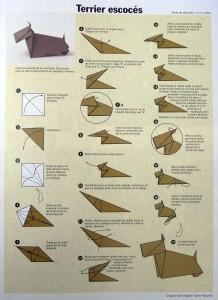 Origami: terrier escocés
