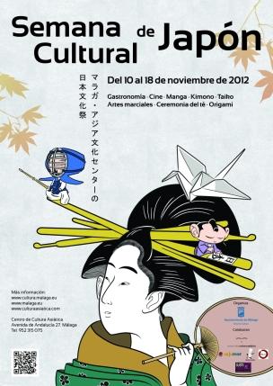 Cartel: I Semana Cultural de Japón de Málaga