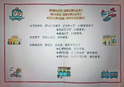 Programa de la 6ª aula de conversación en japonés.