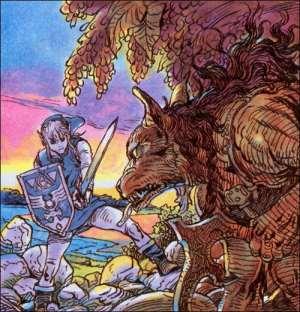 The Legend of Zelda - Link y lobo