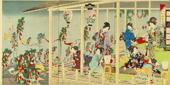 Chikanobu Yoshu - Events in Edo Throughout the Year - Tanabata Festival (1885)