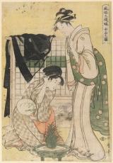 Kitagawa Utamaro - Chûbon no zu [Escena de clase media]