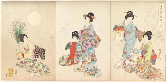 Ukiyo-e: Toyohara Chikanobu - Chiyoda Castle (Album of Women) (1895)