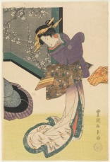 Utagawa Toyokuni - Cortesana