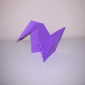Fotografía: pato de origami