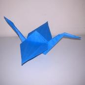 Fotografía: grulla de origami