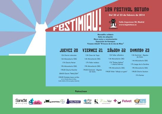 Programa del FESTIMIAU! (2014)