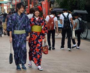 Pareja en yukata